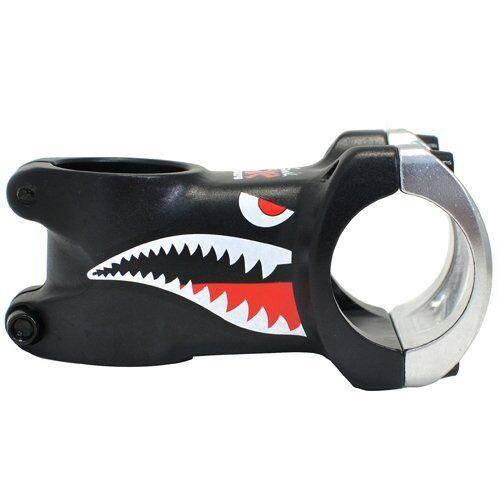 Black x Silver DA BOMB Shark ±7 Degree Alloy Stem 31.8 x 60//80mm