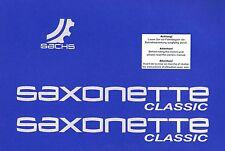 ORIGINAL SACHS Aufkleber Satz SAXONETTE Classic  Alu / Silber ET: P0051994721015