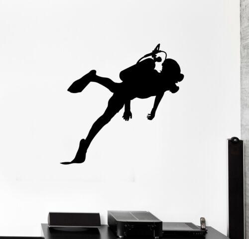 ed1845 Details about  /Wall Decal Scuba Diving Sea Ocean Underwater Vinyl Sticker