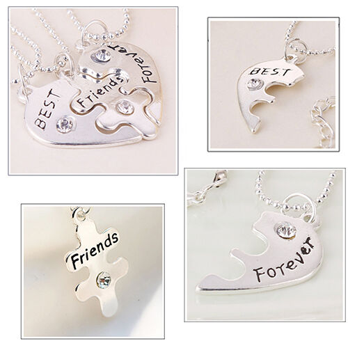Triple BEST FRIENDS FOREVER Necklace Boho Bohemian Jewellery Gift For Her A027