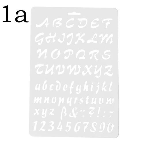 Buchstaben Alphabet Nummer Schichtung Schablonen Malerei Scrapbooking Papier ZP