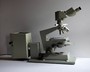 Carl zeiss jena ergaval transmitted light dic inko microscope ebay