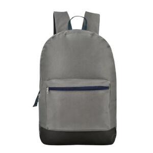 Everyday-Deal-John-Casual-School-Backpack-Daypack-Grey-SL