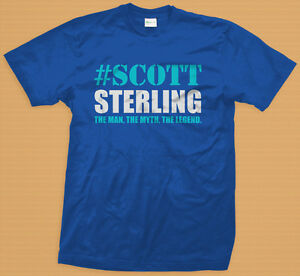 New Scott Sterling The Man The Myth The Legend Funny Men Blue T ... 210cffb4ee