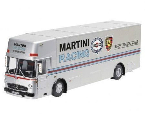 1 18 Schuco Mercedes-Benz o317 PORSCHE Renntransporter Martini Racing