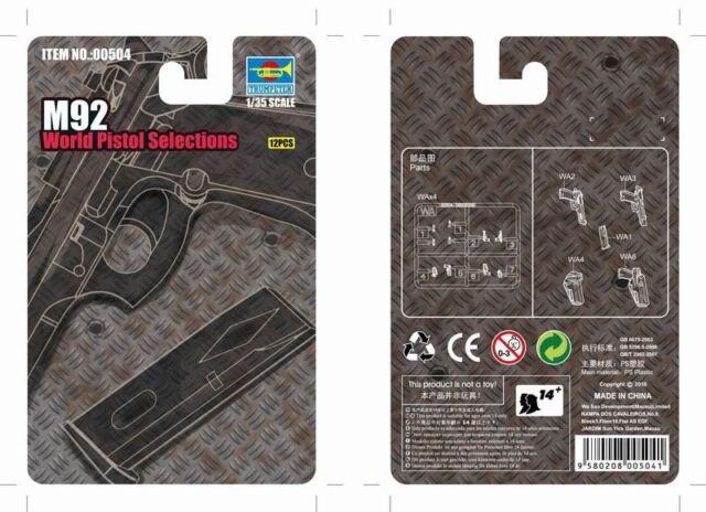 M92 World Pistol Selection 1:35 Plastic Model Kit TRUMPETER