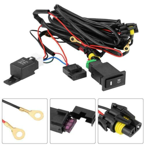 Wiring Kit LED Fog Light Driving Lamp Wiring Harness Fuse Switch Relay Universal