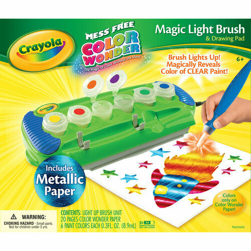 Mess Free Coloring Ages 5 Crayola Color Wonder Magic Light Brush /& Drawing Pad