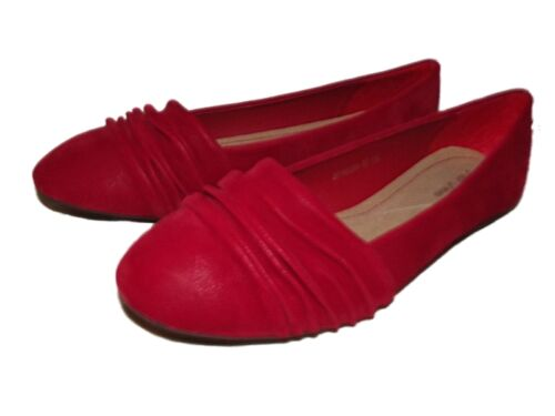 NEW LADIES GIRLS RUCHED DESIGN FAUX SUEDE DOLLY SHOES BALLERINAS FLATS SZ 3-8
