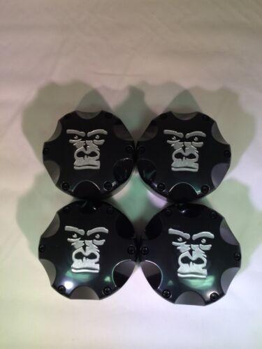 Set of Four Gorilla Silverback Center Caps ITP SS wheels Can Am XMR Outlander