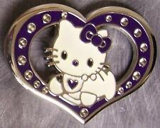 Pewter Belt Buckle Cartoon Hello Kitty Heart NEW