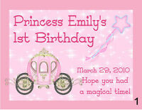15 Princess 1st 2nd 3rd Birthday Party Magnets Favors