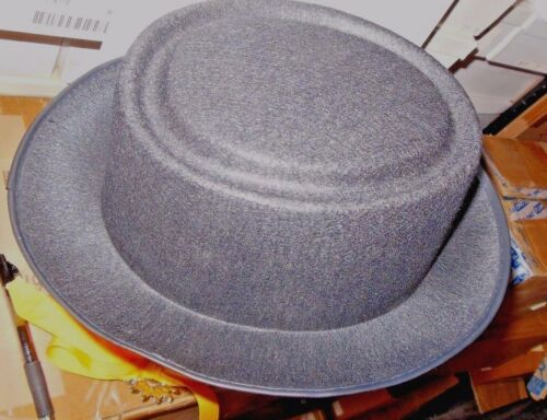 New Lot of 6 Black Jacobson Permafelt PorkPie Hats F14936 $46 value no hatband
