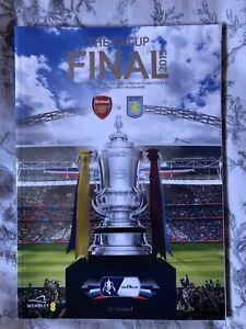 2015 FA Cup Final Programme Arsenal v Aston Villa
