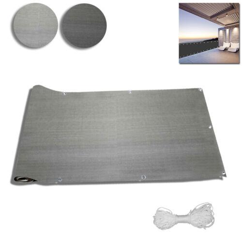 Grau HDPE Balkonbespannung 6M Balkonsichtschutz Sonnen Wind Schutz Bespannung DE