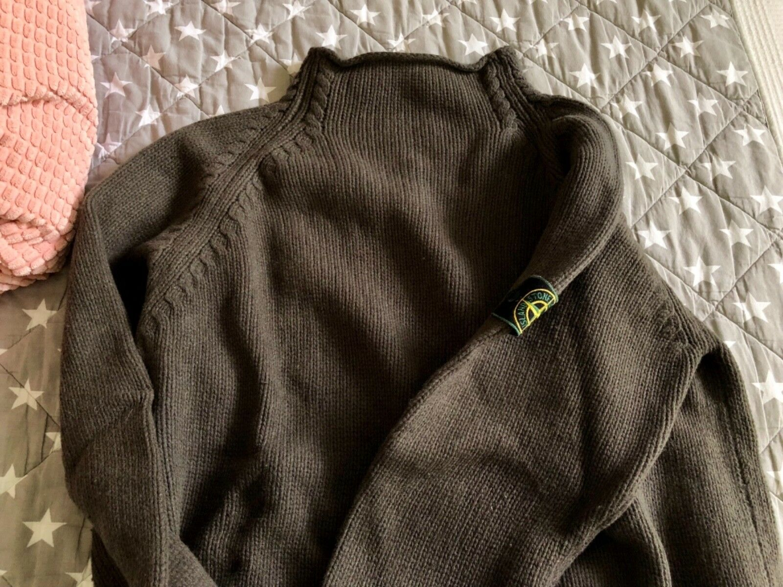 Stone Island Pullover Grün badge 1997 great conditions ⚓️⚜️