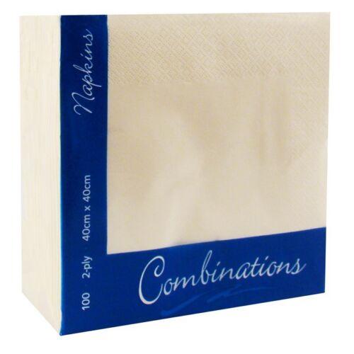 2000 Servilletas Champán Crema Suero de Leche 40 cm X 40 cm suave nuevo despacho de papel
