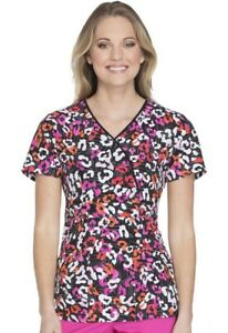 02d0065f183 Runway By Cherokee Women's Mock Wrap Leopard Print Scrub Top RW601 ...