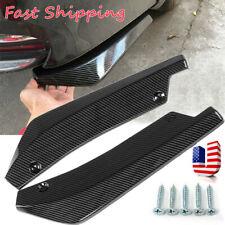 2x Car Auto Carbon Fiber Rear Bumper Lip Diffuser Splitter Canard Protector Top