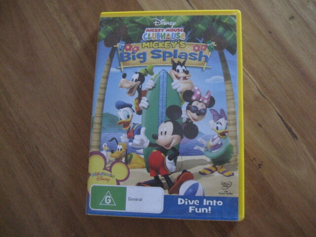 DVD- MICKEY MOUSE CLUBHOUSE - MICKEY'S BIG SPLASH - DIVE INTO FUN GREAT WATCHING
