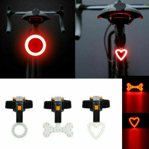 LED USB Rechargeable Bike Tail Light Bicycle Safety Cycling Warning Rear Lamp