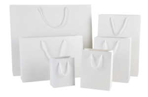 LUXURY WHITE MATT PAPER BAGS BIRTHDAY & CHRISTMAS GIFT BAGS