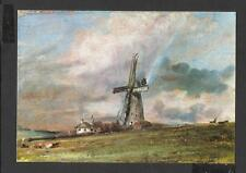 Art Postcard Windmill among Houses - Rainbow Constable-Medici Society  unposted
