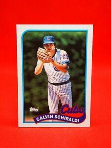 Topps 1989 carte card Baseball MLB NM+/M Chicago Cubs #337 Calvin Schiraldi