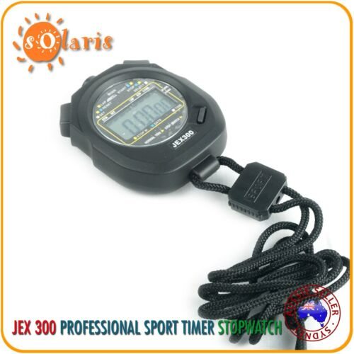 JEX300 Stopwatch Basic 1//100 Sec Chronograph for All Sports Timer