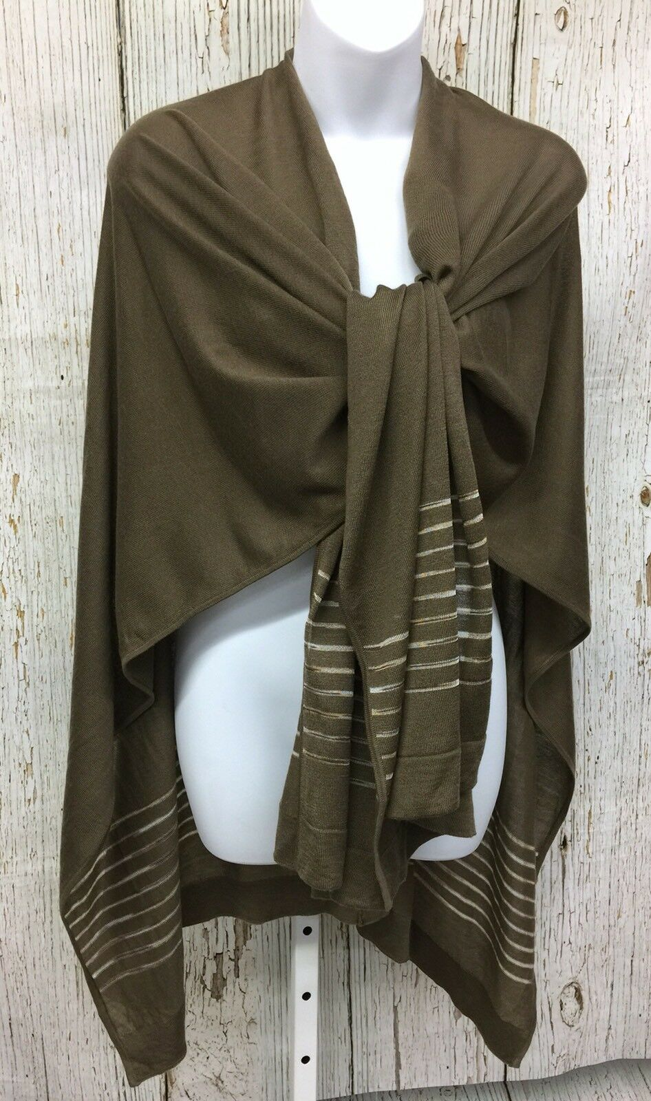 NWT Coldwater Creek Brn Essential Sunlit Open Front Wrap Shawl Women's Sweater