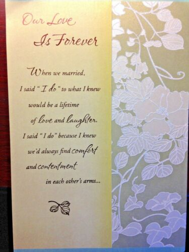 OUR  ANNIVERSARY Card XL Size Wow Beautiful LOVE for HUSBAND WIFE Hallmark 19