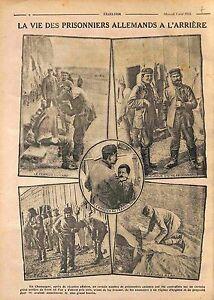 """Prisoners Felgrauen Coiffeurs Barbiers Prisonniers Allemand Champagne WWI 1916 - France - Commentaires du vendeur : """"OCCASION"""" - France"""