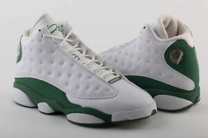 e731e18d143 Mens Air Jordan 13 PE Retro Ray Allen White Clover 414571-125 SZ 8 ...