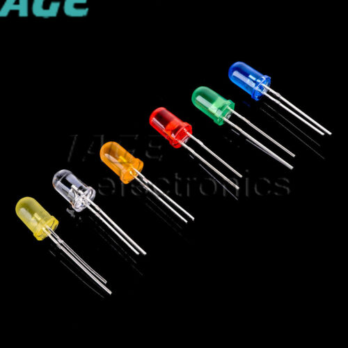 3-10mm Round//Straw Hat//Flat Top//Piranha Water Clear//DIFFUSED LED Diode L1SA