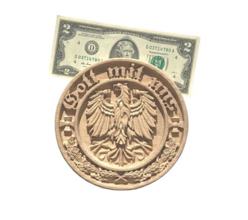 """Coat of Arms replique Medalion 5-1//2/"""" Diameter. /""""GOTT MIT UNS/"""""""