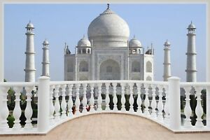 Huge-3D-Balcony-Taj-Mahal-Wall-Stickers-Mural-Film-Art-Decal-307