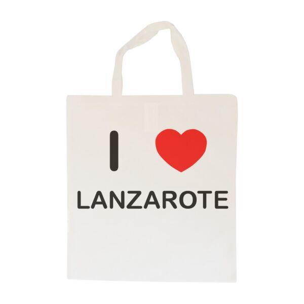 100% Vero I Love Lanzarote-borsa In Cotone   Taglia Scelta Tote Shopper, O Sling