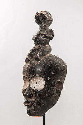African mask from MITUKU tribe DRC Congo pigmy mask tribal home decor art space African home Zaire arts 2614