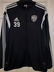Adidas-FC-Juventus-Football-Academy-39-Zip-Tracksuit-Top-L-Large-VGC-SUPER-RARE