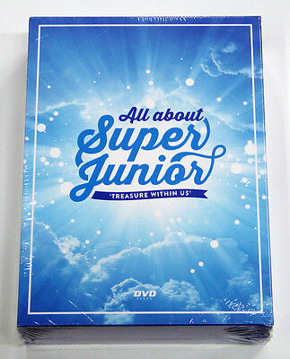 SUPER JUNIOR - All about Super Junior TREASURE WITHIN US DVD [6DVD+Card+Poster]
