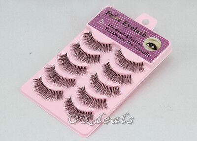 New 5 pairs Handmade False Eyelashes Popular Messy Natural Paragraph Eye Lashes