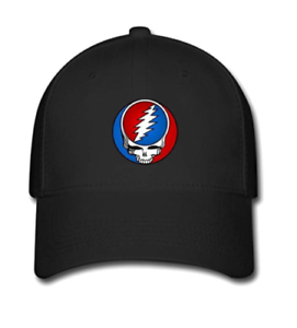 Grateful Dead Steal Your Face Embroidered Hemp Snapback Trucker Cap Washed