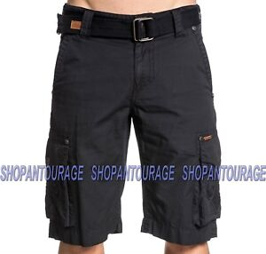 9685522206 Details about Affliction Encouragement 110WS144 New Black Fashion Cargo  Shorts for Men