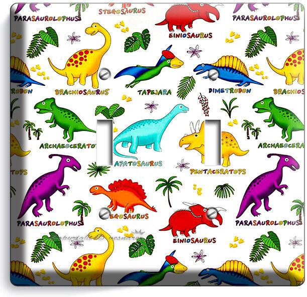Jurassic Period Dinosaurs Dino Double Light Switch Wall Plates Kids Room Decor Ebay