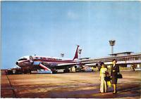 AIR INDIA BOEING 707 AIRPLANE ORLY PARIS AIRPORT STEWARDESS WOMAN OLD POSTCARD