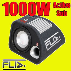 fli 10 f6 active car sub box subwoofer wiring kit and amplifier rh ebay com