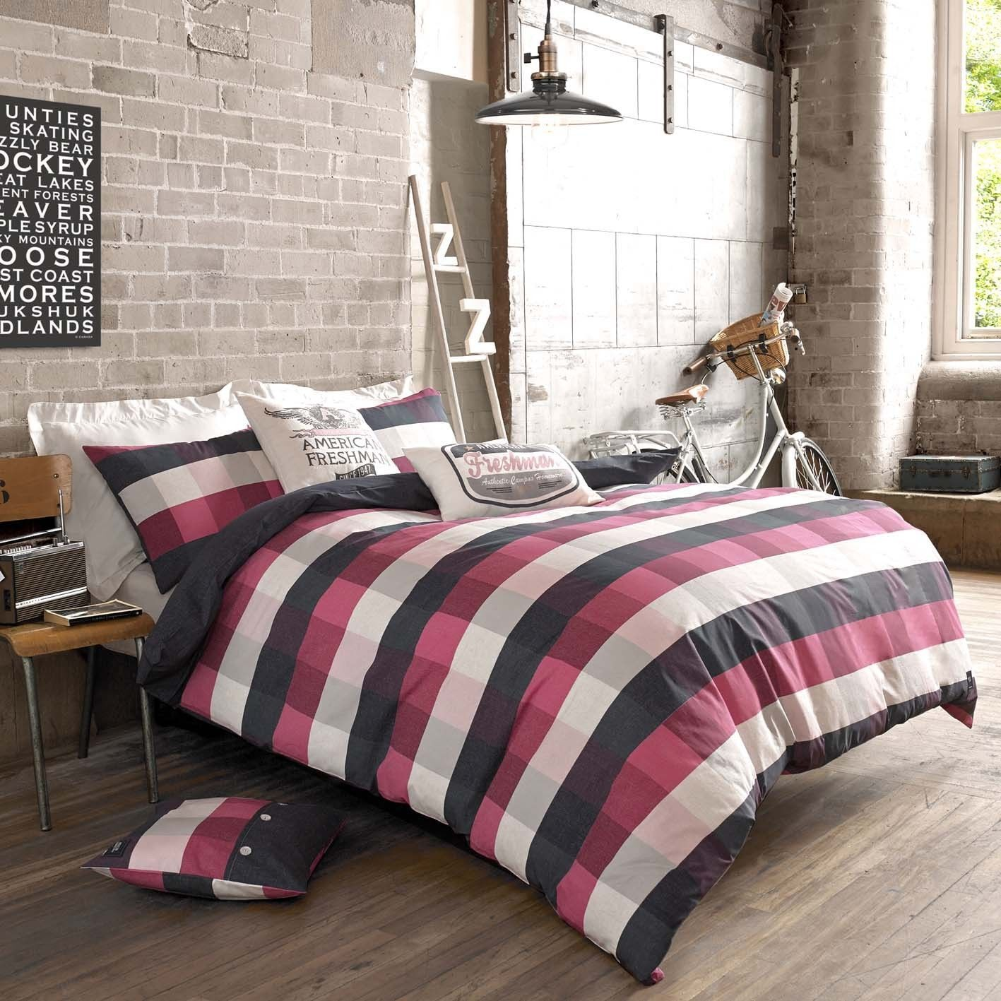 American Freshman ANDERSON Cotton Authentic Bedding Quilt Duvet Cover Set.