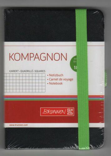 kariert NOTIZBUCH ca 55718-52 Original-Brunnen KOMPAGNON 9x13cm