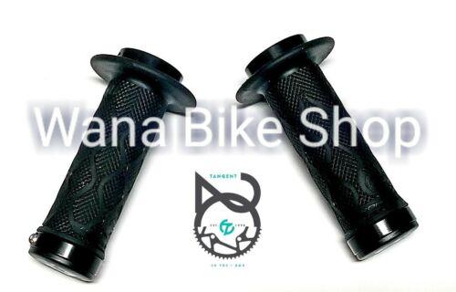TANGENT BMX FLANGE MINI LOCK ON GRIPS 100MM Black
