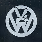 Peace sign Car Laptop Decal Vinyl Sticker VW Golf Jetta Passat Bora Scirocco GTI